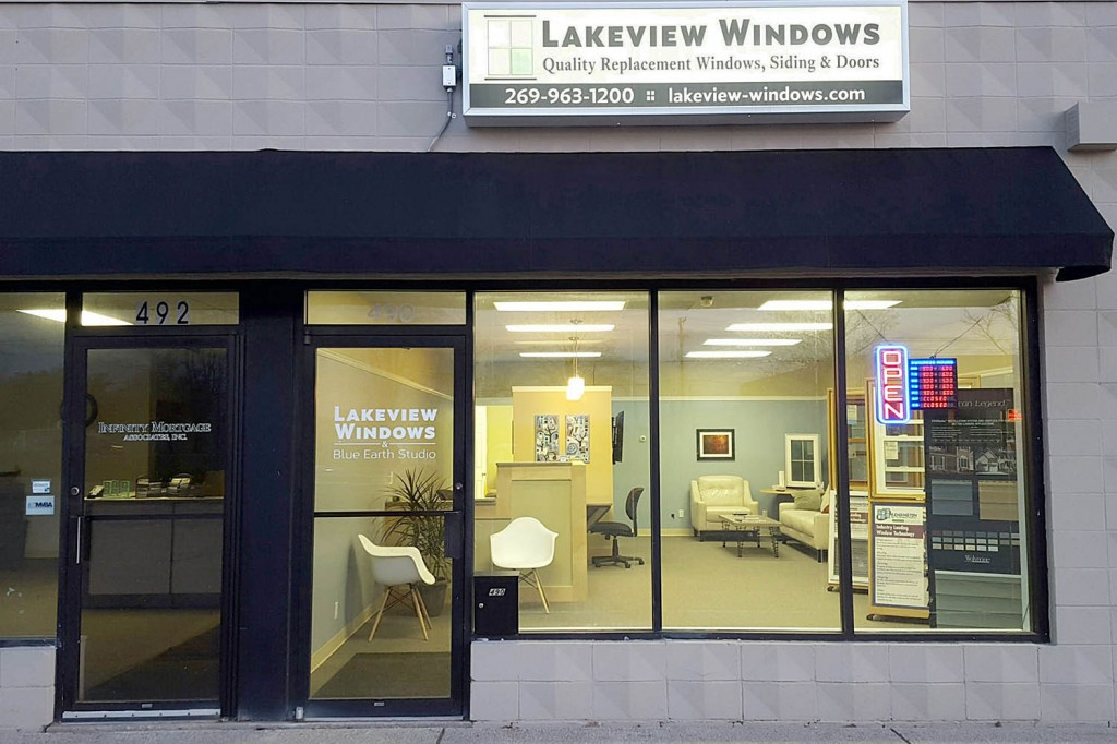 Lakeview Windows & Siding storefront in Fairfield Plaza, Coldwater, MI