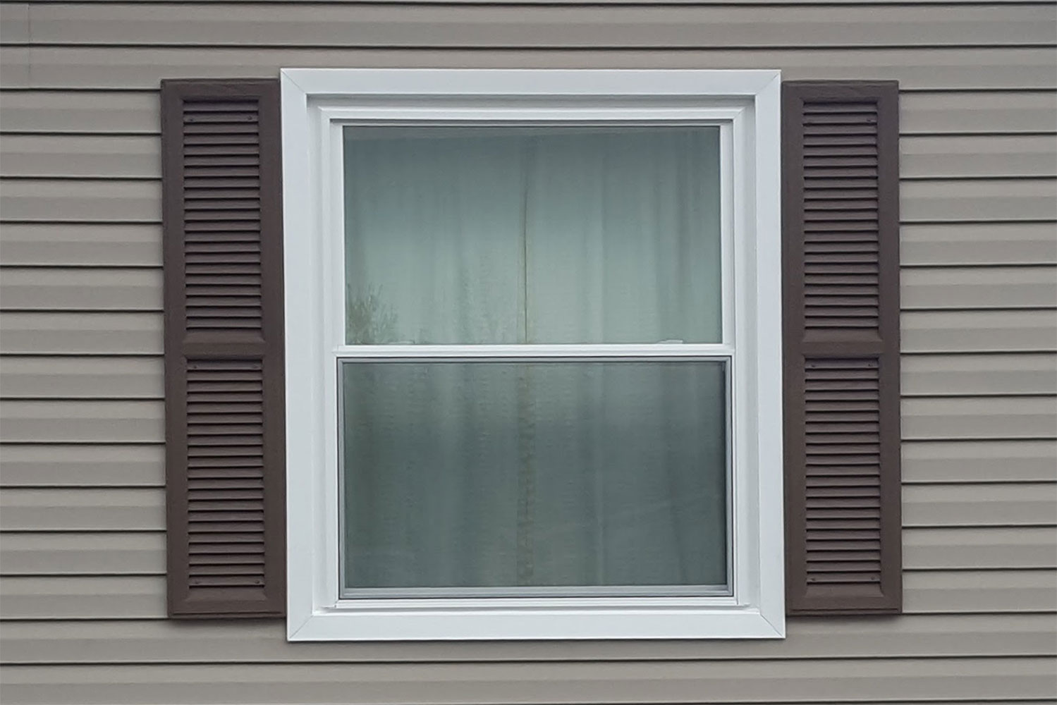 After - Double hung window