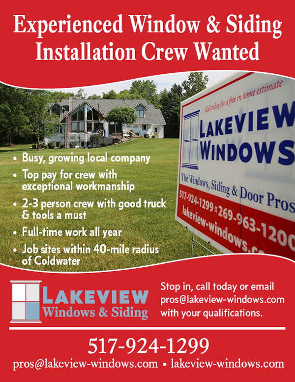 Experienced Window & Siding Installation Crew Wanted