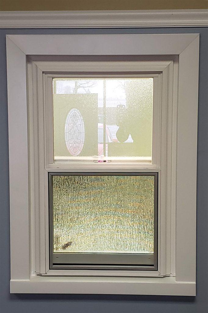 Obscure Or Ice, Rain Glass Bathroom Window