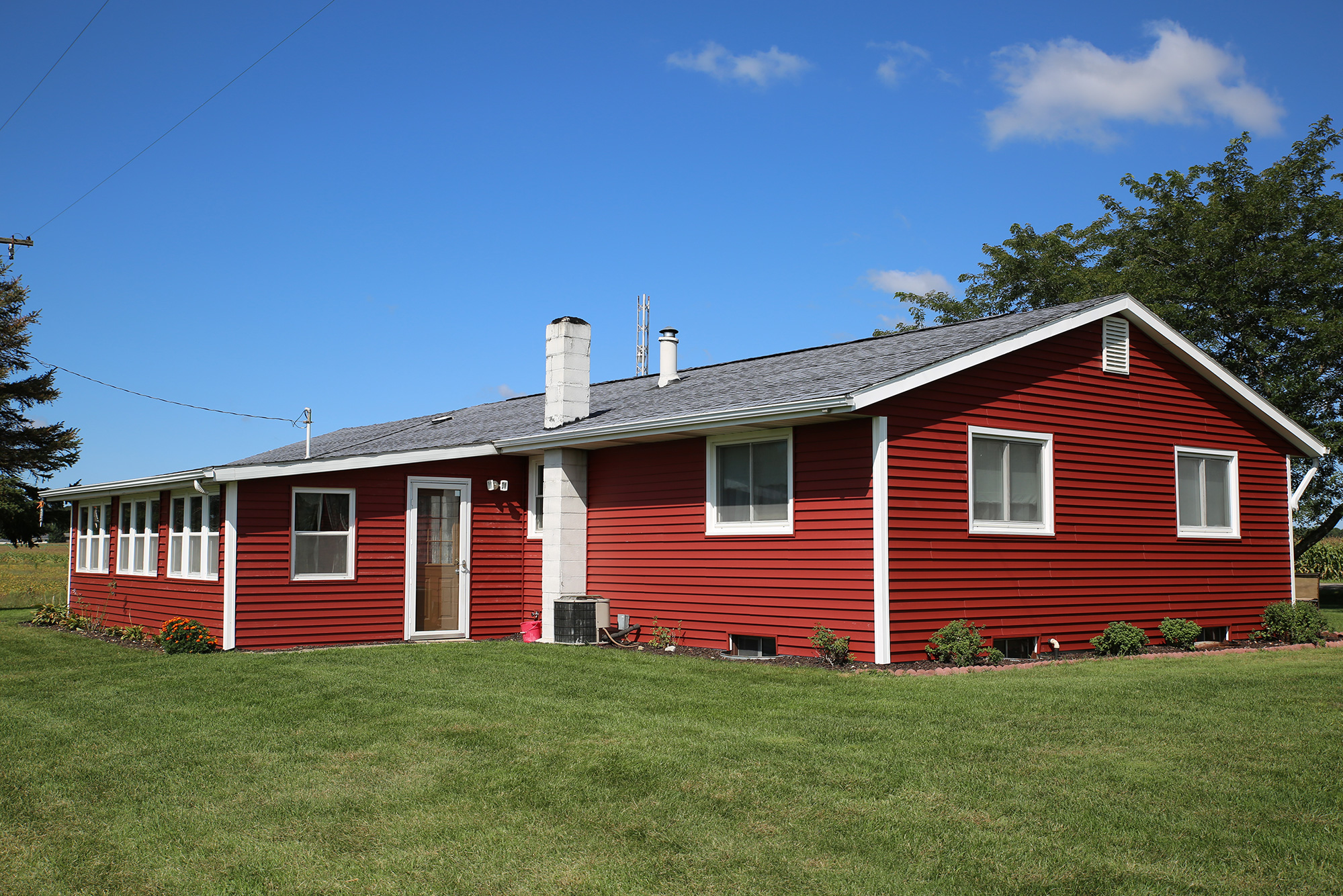 Before Amp After Red Siding With White Trim Makes A